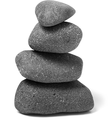 Picture of stacked rocks